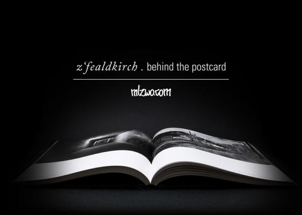 z´fealdkirch . behind the postcard