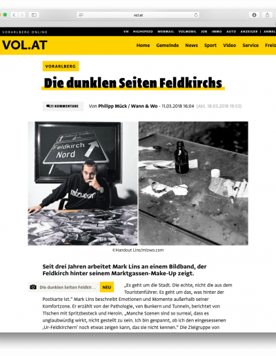 Vol.at - Artikel vom 11.03.2018 - zFealdkirch . behind the postcard